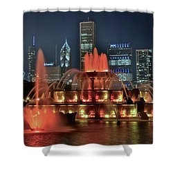 Shower Curtain featuring the photograph Buckingham Waters by Frozen in Time Fine Art Photography