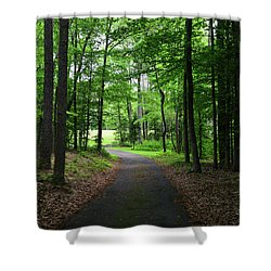 Buckner Farm Path Shower Curtain