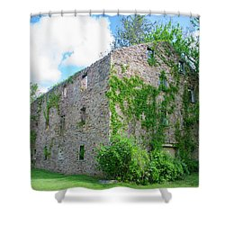 Shower Curtain featuring the photograph Bucks County Pa - Bridgetown Millhouse Ruins by Bill Cannon