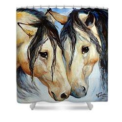Buckskin Friends Shower Curtain by Marcia Baldwin