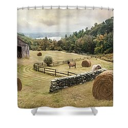 Shower Curtain featuring the photograph Bucolic by Robin-Lee Vieira