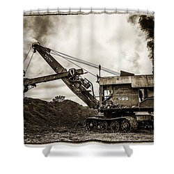 Bucyrus Erie Shovel Shower Curtain