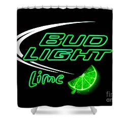 Bud Light Lime Edited Shower Curtain