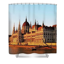Budapest At Sunset Shower Curtain