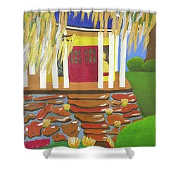 Budda Shrine At Avery Island Shower Curtain