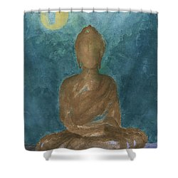 Buddha Abstract Shower Curtain