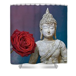 Buddha And Rose Shower Curtain