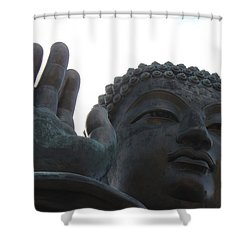 Buddha At Ngong Ping Village, Hong Kong Shower Curtain by Jennifer Mazzucco