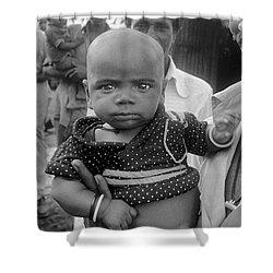 Buddha Baby, Mumbai India  Shower Curtain