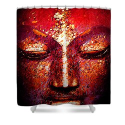 Buddha  Face Shower Curtain