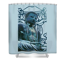 Buddha Great Statue Shower Curtain by Robert G Kernodle