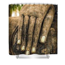 Buddha Hand Shower Curtain