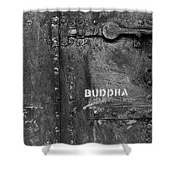 Buddha Shower Curtain by Laurie Stewart