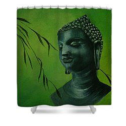 Buddha Shower Curtain by Lynn Hughes