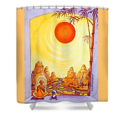 Buddha Meditation Shower Curtain