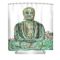 Buddha Of Kamakura Statue Shower Curtain
