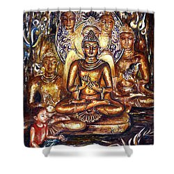 Buddha Reflections Shower Curtain by Harsh Malik