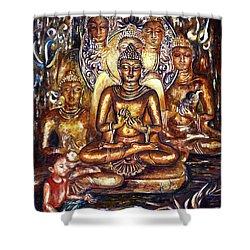 Buddha Reflections Shower Curtain