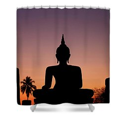Buddha Silhouette Shower Curtain