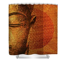 Buddha  Shower Curtain by Sir Josef - Social Critic -  Maha Art