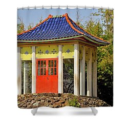 Buddha Temple Shower Curtain