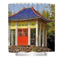 Buddha Temple Shower Curtain