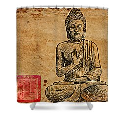 Buddha The Minimalist Shower Curtain