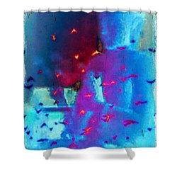 Buddha W Birds Shower Curtain