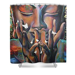 Buddhaflies Shower Curtain