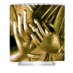 Buddhas Hands Shower Curtain by Ray Laskowitz - Printscapes