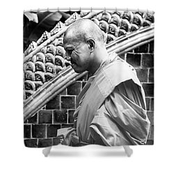 Buddhist Monk Shower Curtain