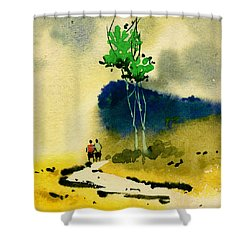 Buddies Shower Curtain by Anil Nene