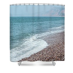 Budleigh Seascape II Shower Curtain