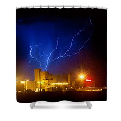 Budweiser Powered By Lightning Shower Curtain by James BO  Insogna
