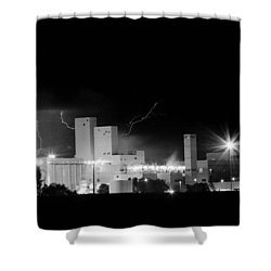 Budwesier Brewery Lightning Thunderstorm Image 3918  Bw Shower Curtain by James BO  Insogna