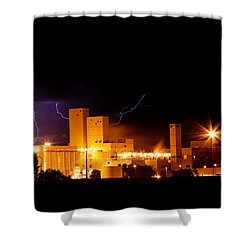 Budwesier Brewery Lightning Thunderstorm Image 3918 Shower Curtain by James BO  Insogna