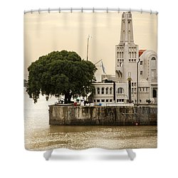 Buenos Aires Lighthouse Shower Curtain