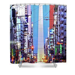 Buenos Aires Obelisk Shower Curtain