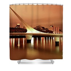 Buenos Aires On Fire Shower Curtain by Bernardo Galmarini