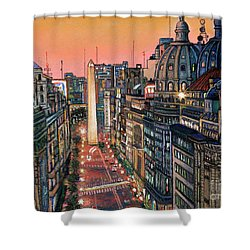 Buenos Aires Twilight Shower Curtain by Bernardo Galmarini