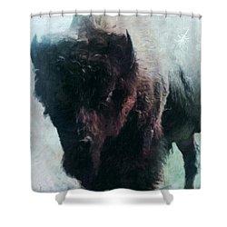 Buffalo American Bison Shower Curtain