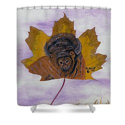 Buffalo Profile Shower Curtain