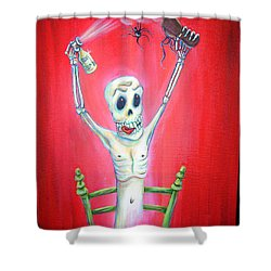 Bug Bomb Shower Curtain
