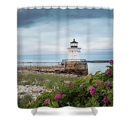 Bug Light Blooms Shower Curtain