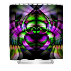 Bug With Wings Shower Curtain by Cherie Duran