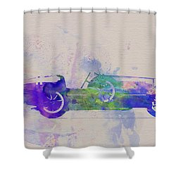Bugatti Type 35 R Watercolor 2 Shower Curtain by Naxart Studio