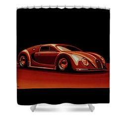 Bugatti Veyron 'beetgatti' 1945 Painting Shower Curtain