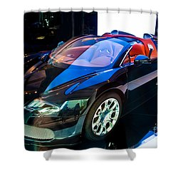 Bugatti Veyron Targa Shower Curtain