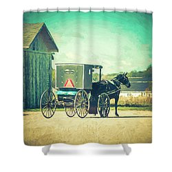 Shower Curtain featuring the photograph Buggy Ride by Joel Witmeyer