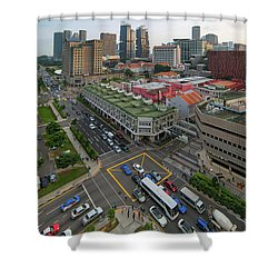 Bugis Village Junction In Singapore Entertainment District Shower Curtain by David Gn